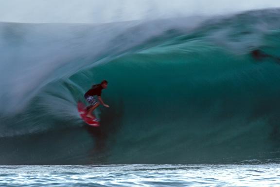 Jamie Sterling, surfing his backyard