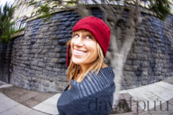My fantastically creative wife. Fisheyed and motion blurred.